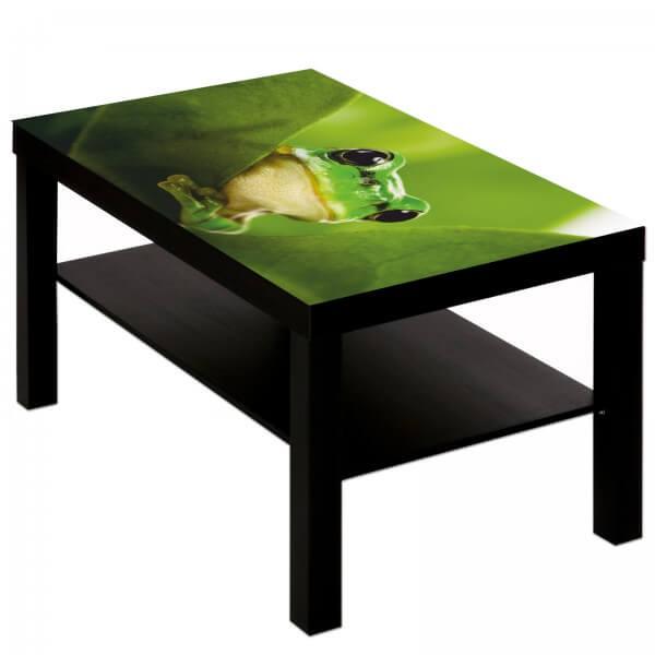 Couchtisch Tisch mit Motiv Tiere Frosch grün