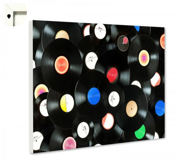 Magnettafel Pinnwand Retro Schallplatten 1