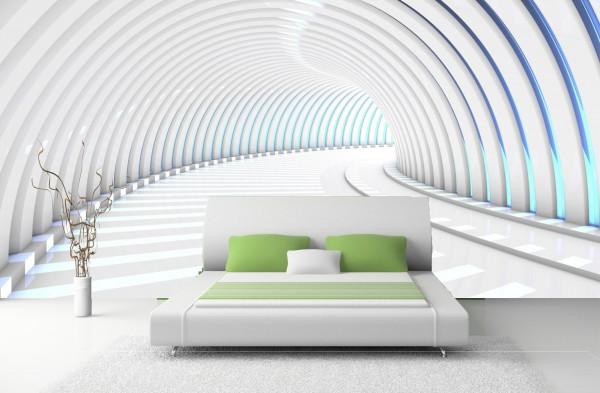 Vlies Tapete Poster Fototapete 3D Tunnel abstrakt