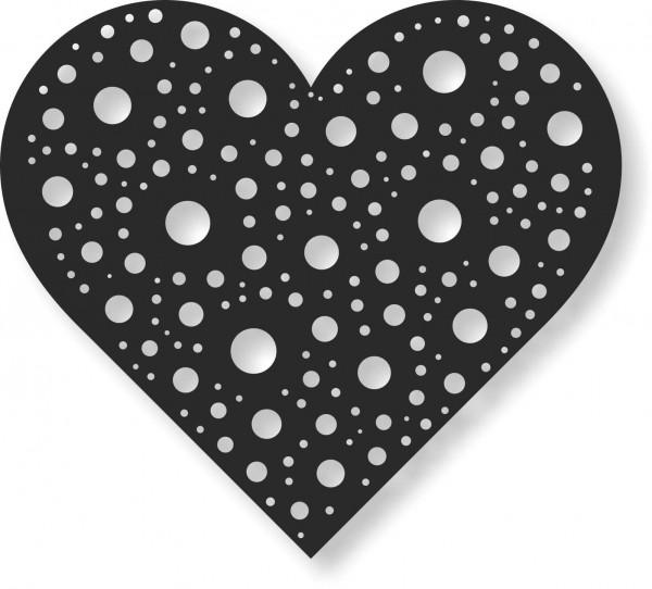 Bild Wandbild Wandtattoo Acryl Mobile Herz Liebe Ornament Heart