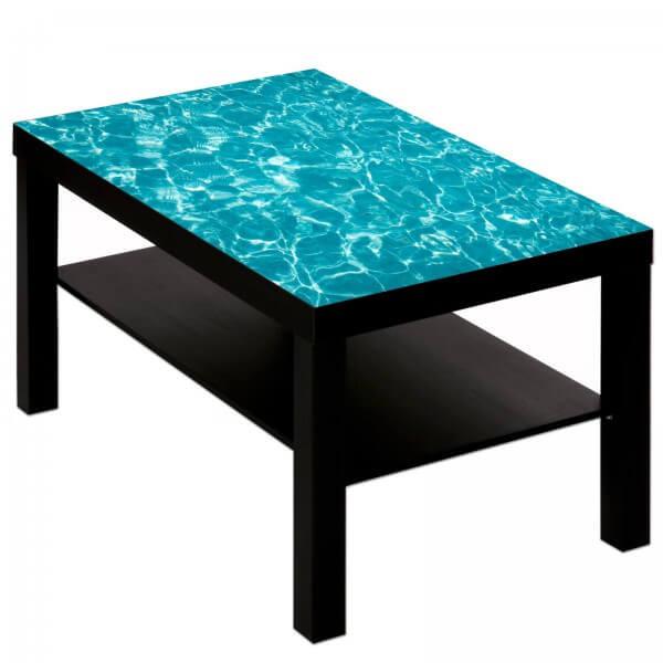 Couchtisch Tisch mit Motiv Bild Muster Wasser Swimming-Pool