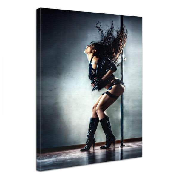 Leinwand Bild Erotik Pole Dance