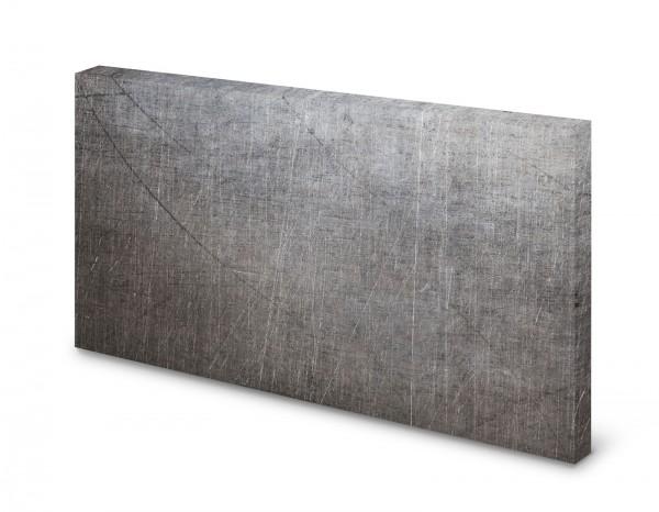 Magnettafel Pinnwand Bild Metall zerkratzt alte Metalloptik gekantet