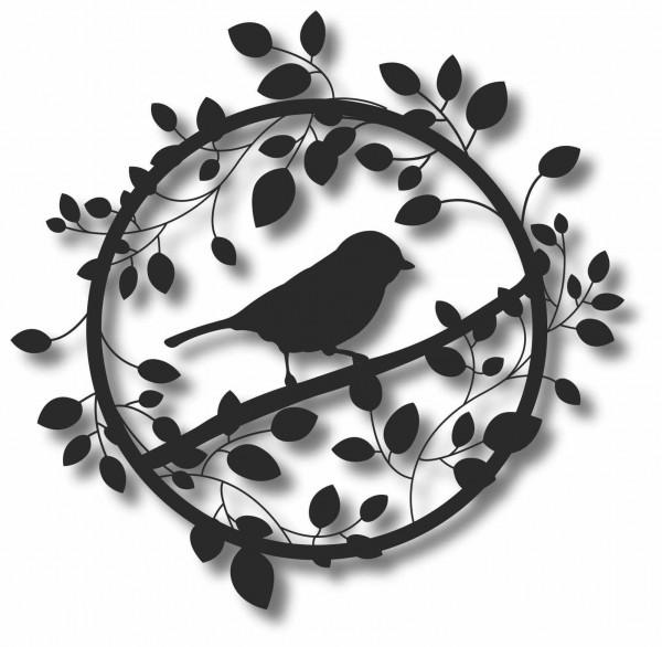 Bild Wandbild 3D Wandtattoo Acryl Mobile Vogel Vögel Blätter Natur