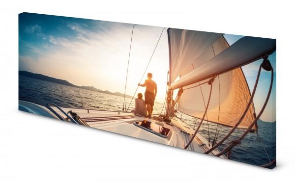 Magnettafel Pinnwand Bild Segelyacht Segelboot Segeln gekantet