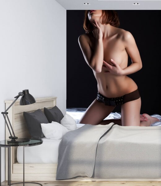 Vlies Tapete XXL Poster Fototapete Erotik sexy Lady Akt Seide