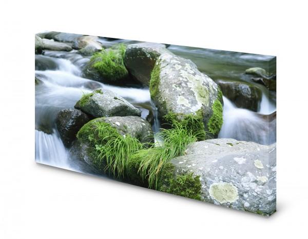 Magnettafel Pinnwand Bild Natur Alles im Fluss XXL gekantet