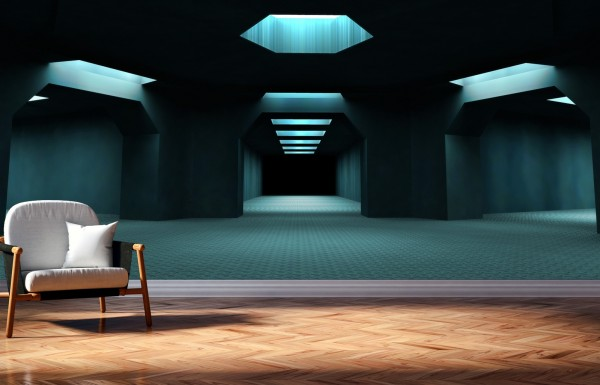 Vlies Tapete Poster XXL Fototapete 3D Effekt Tunnel dunkel Abstrakt