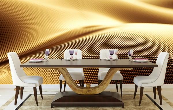 Vlies Tapete Poster XXL Fototapete 3D Effekt Muster Gold