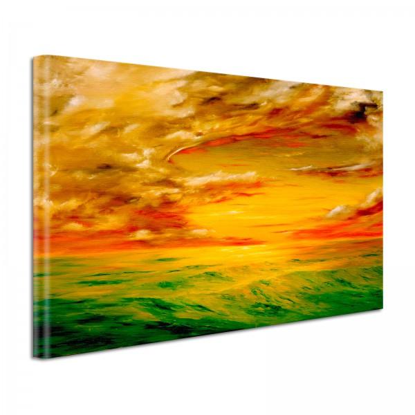 Leinwandbild Gemälde Horizont