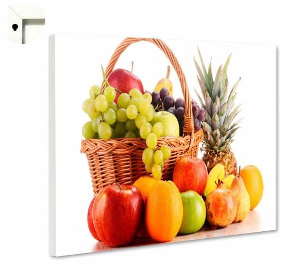 Magnettafel Pinnwand mit Motiv Küche Früchtekorb