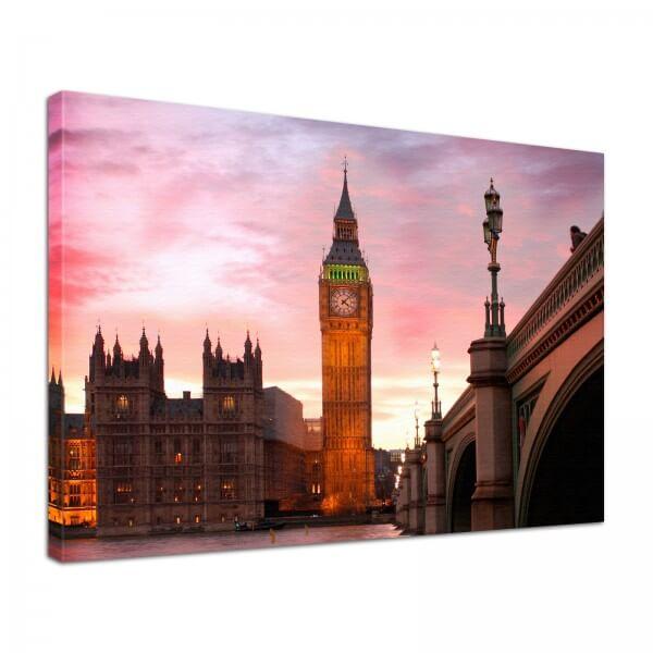 Leinwand Bild edel London Westminster Abbey Big Ben