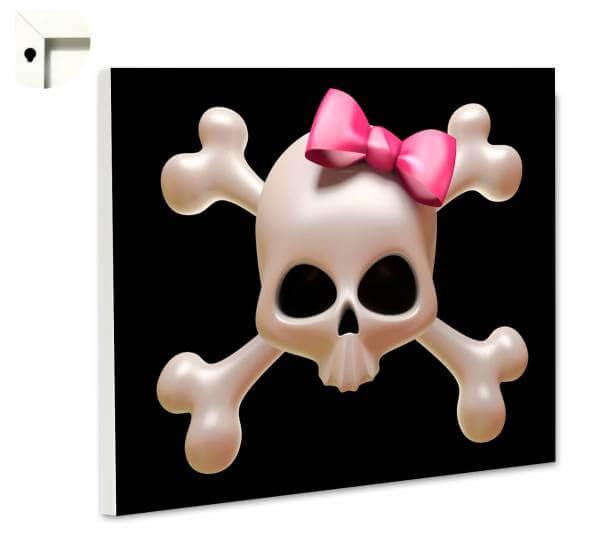 Magnettafel Pinnwand Totenkopf Pirat Mädchen