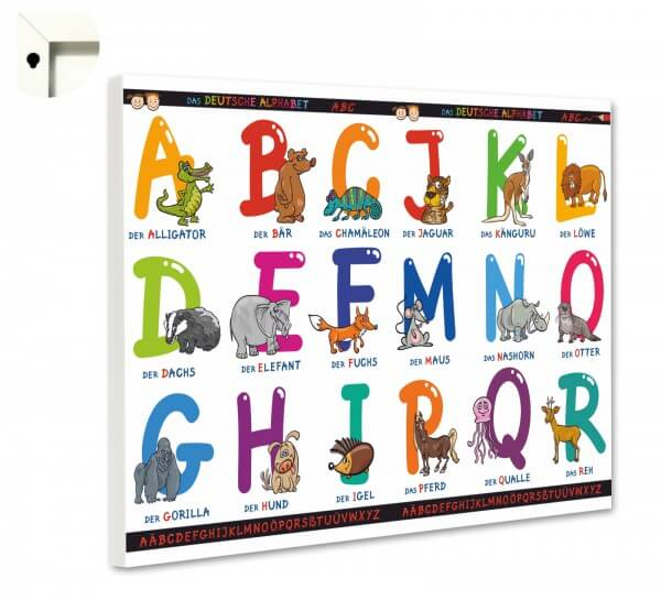 Magnettafel Pinnwand Kinder Schule ABC