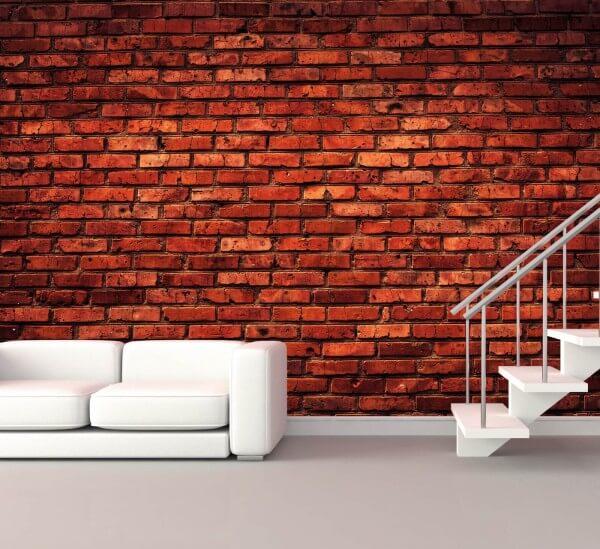 Vlies XXL-Poster Fototapete Tapete Muster Ziegelsteine Mauer