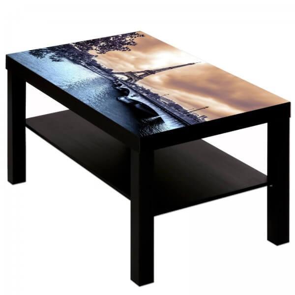 Couchtisch Tisch mit Motiv Bild Paris Frankreich Eiffelturm 1