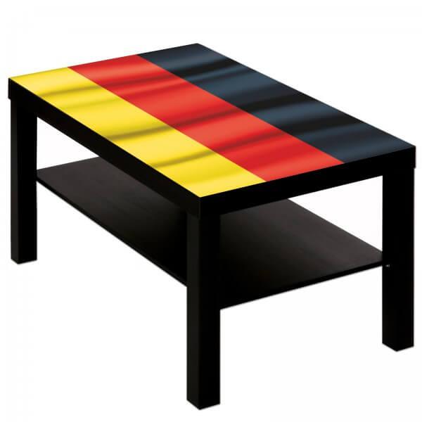 Couchtisch mit Motiv Flagge Deutschland