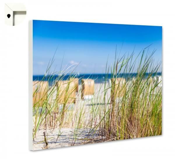 Magnettafel Pinnwand Natur Sylt Strandkorb Strand Düne