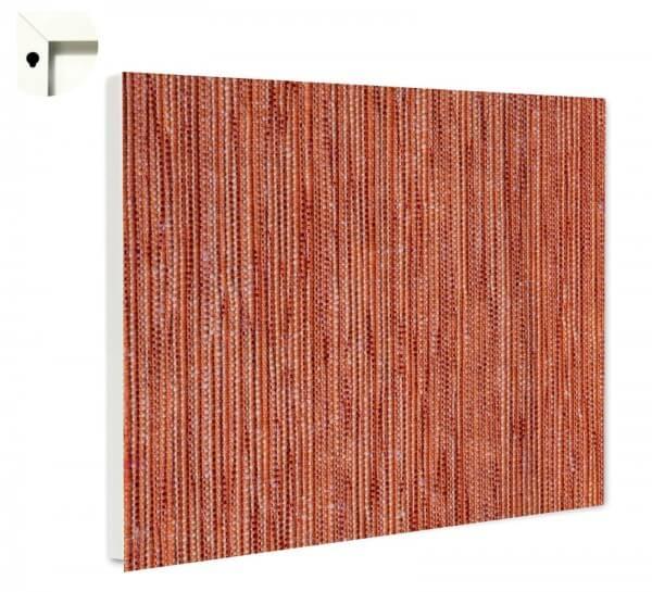 Magnettafel Pinnwand Muster Leinen rot braun