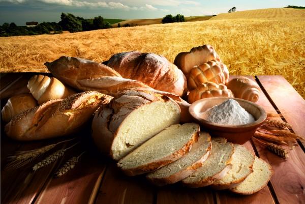 Magnettafel Pinnwand XXL Bild Brot Weizen Bäcker