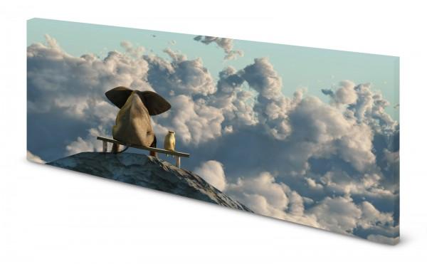 Magnettafel Pinnwand Bild Elefant Hund Berg Gipfel Freundschaft gekantet