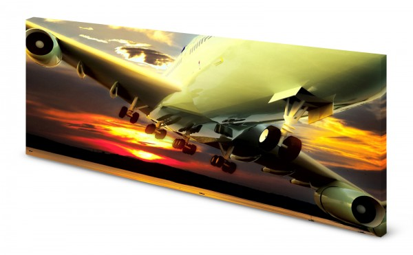 Magnettafel Pinnwand Bild Panorama Flugzeug Jet gekantet