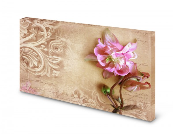 Magnettafel Pinnwand Bild Nostalgie Blume Muster Floral gekantet