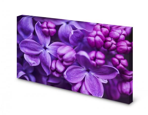Magnettafel Pinnwand Bild Flieder lila Blumen Blumenmuster gekantet