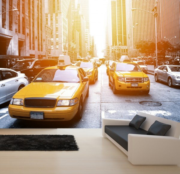 Vlies Tapete XXL Poster Fototapete New York Taxi
