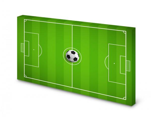 Magnettafel Pinnwand Bild Fussballplatz Fussballfeld XXL gekantet