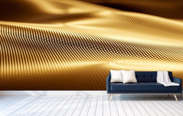 Vlies Tapete Poster XXL Fototapete 3D Effekt Gold Optik Metall