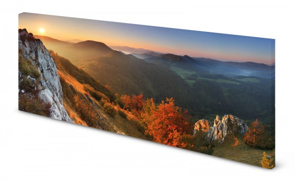 Magnettafel Pinnwand Bild Berge Horizont Herbst gekantet