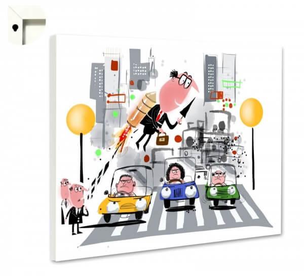 Magnettafel Pinnwand Comic