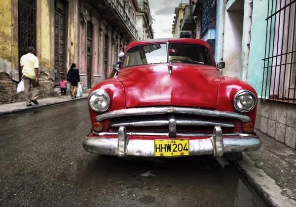 Poster Fototapete Oldtimer Kuba