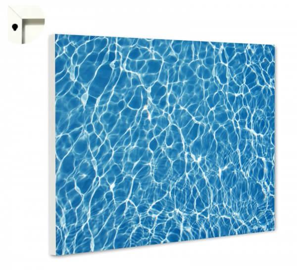 Magnettafel Pinnwand Muster Swimmingpool blau