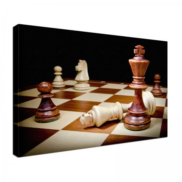 Leinwand Bild edel Schach
