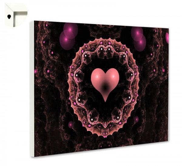 Magnettafel Pinnwand Techno Herz schwarz pink