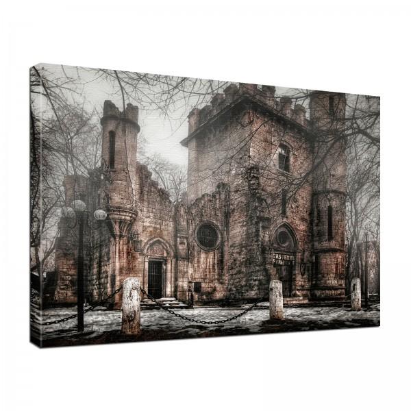 Leinwand Bild edel Gothic Fantasy Lost Places 1