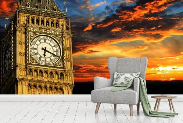 Vlies Tapete XXL Poster Fototapete Big Ben London