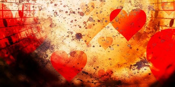 Magnettafel Pinnwand Bild XXL Panorama Abstrakt Herz Muster
