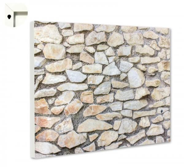 Magnettafel Pinnwand Steinwand hell Steinmauer Steinoptik