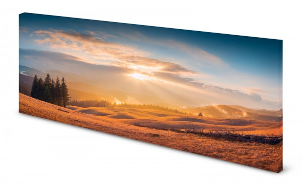 Magnettafel Pinnwand Bild Winter Schneelandschaft Natur gekantet