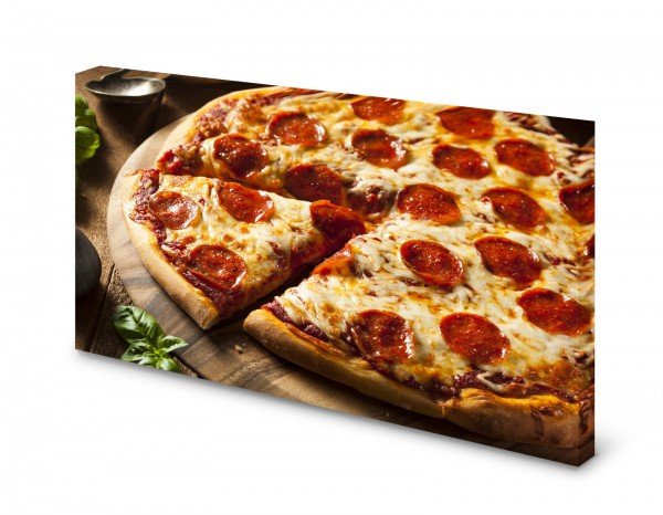 Magnettafel Pinnwand Bild Pizza Salami Küche XXL gekantet