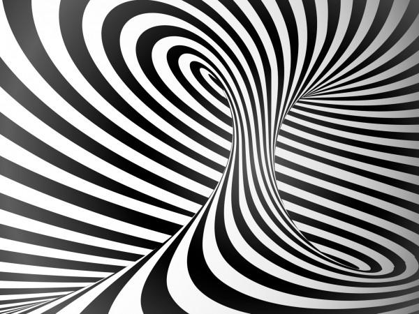 Vlies Tapete Fototapete 3D Effekt Streifen Wirbel Zebra