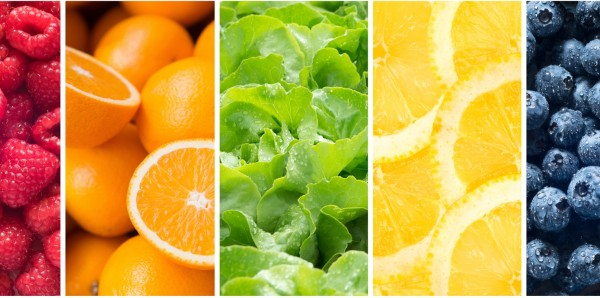 Magnettafel Pinnwand Bild Panorama Küche Obst Gemüse bunt