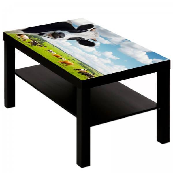 Couchtisch Tisch mit Motiv Tiere Kuh 2