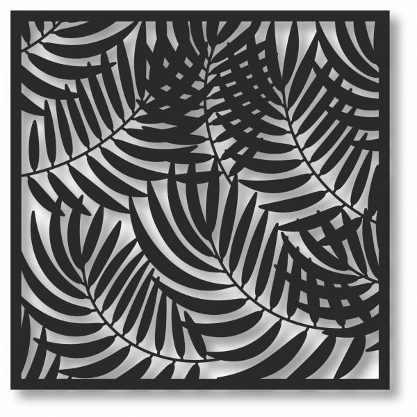 Bild Wandbild 3D Wandtattoo Acryl Mobile Farn Farnblatt Farnmuster