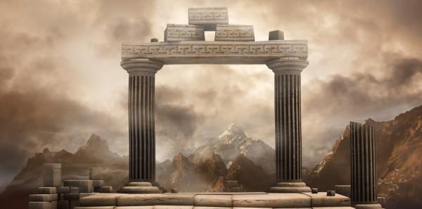 Magnettafel Pinnwand Bild XXL Panorama Tempel Ruinen