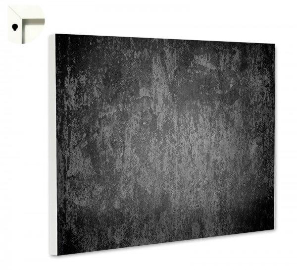 Magnettafel Pinnwand Motiv Muster Beton grau schwarz