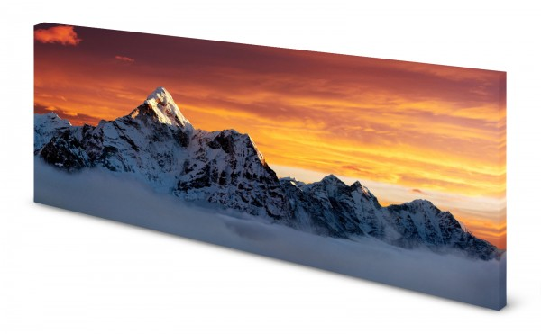 Magnettafel Pinnwand Bild Berg Everest Gipfel Panorama gekantet
